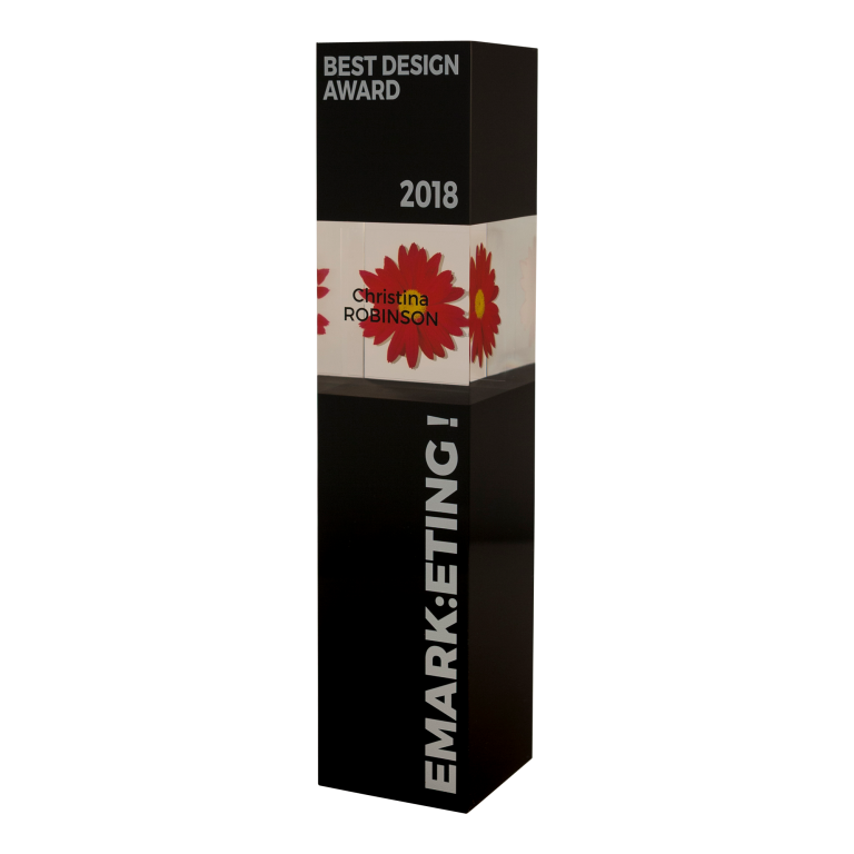 Sleek black design award in acrylic
