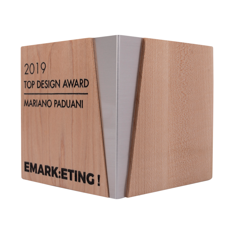 modern design award wood and metal