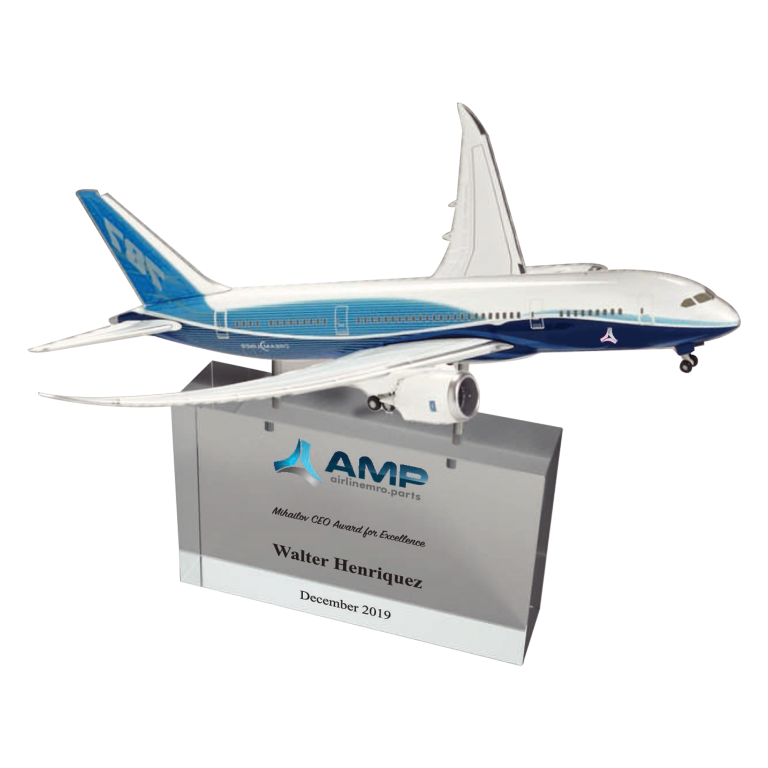 Airplane award made with acrylic
