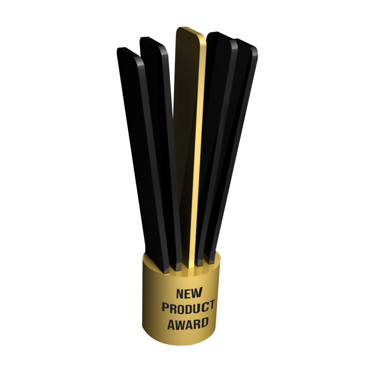 custom black and gold award for product innovation